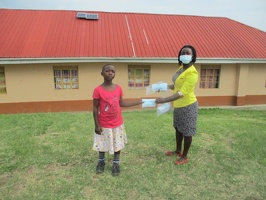 Ninsiima Cecilia p.3 with her face masks (1)
