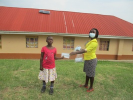 Ninsiima Cecilia p.3 with her face masks (2)