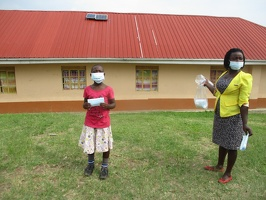 Ninsiima Cecilia p.3 with her face masks (4)