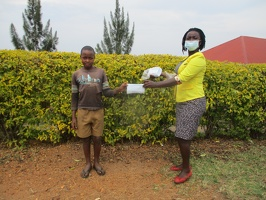 Tumusiime Dan p.4 with his face masks (1)