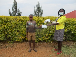 Tumusiime Dan p.4 with his face masks (2)