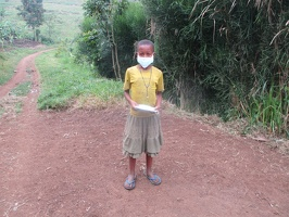 Tumwebaze Prossy p.2 with her face masks  (5)