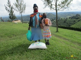 Namirembe Shadia's family with their food package (1)